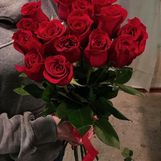 15 красных Эквадорских роз
