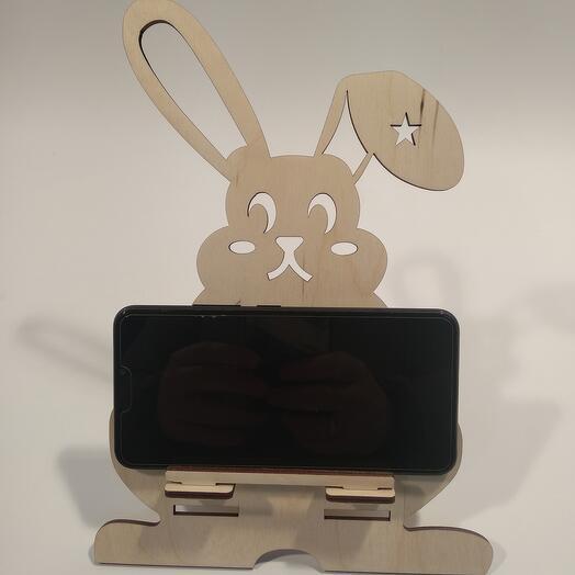 """Подставка под телефон  """"Звездный заяц """" 185x260мм подставка под планшет, подставка под книгу"""