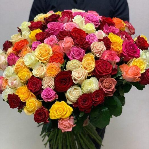 101 эквадорская роза микс