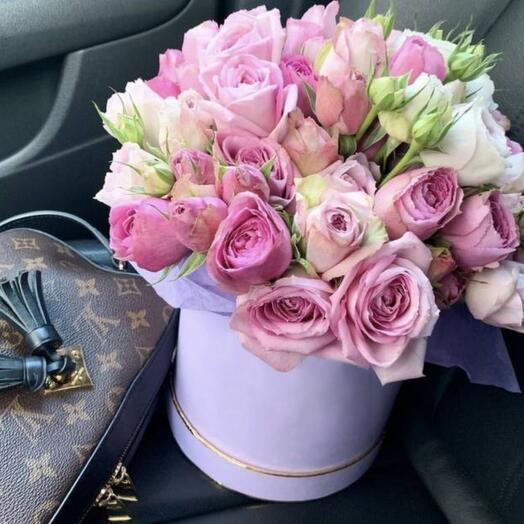 "Коробка с розами "" Лайс"""
