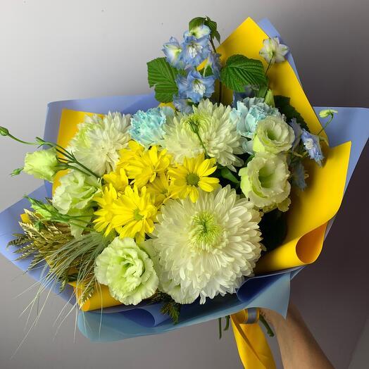 Букет с хризантемами