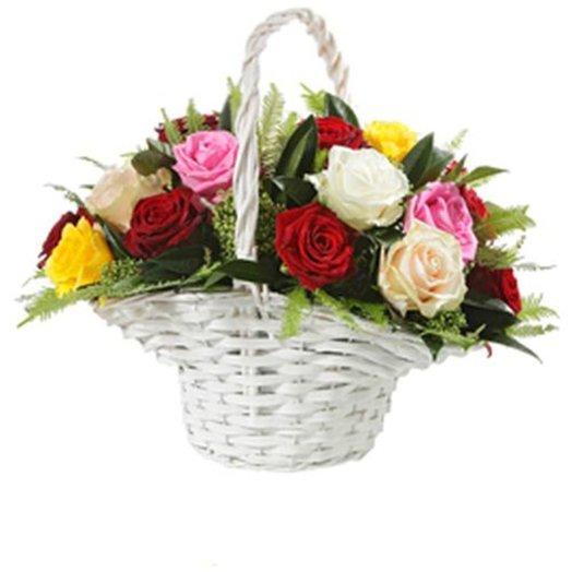 Корзина Радостное известие: букеты цветов на заказ Flowwow