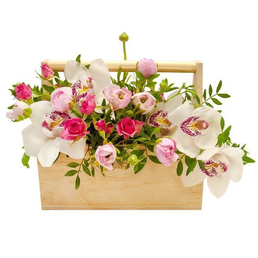 Ящик с цветами Ариэль: букеты цветов на заказ Flowwow