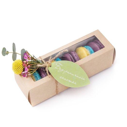 Коробочка с макарунами «Приятный сюрприз»: букеты цветов на заказ Flowwow