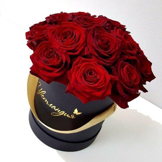 Средняя шляпная коробка: букеты цветов на заказ Flowwow