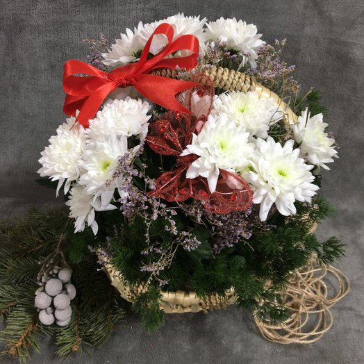 """Корзинка """" Винтаж"""": букеты цветов на заказ Flowwow"""