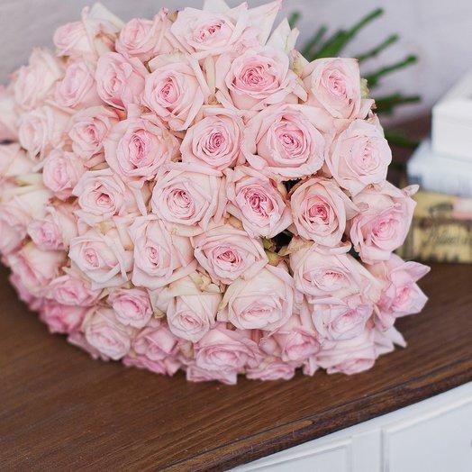 Букет из 51 розы «Pink O Hara»: букеты цветов на заказ Flowwow