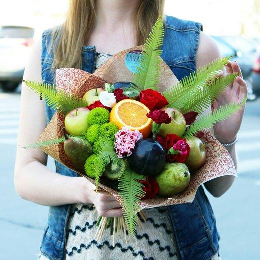"Фруктовый букет ""Коктейль"": букеты цветов на заказ Flowwow"