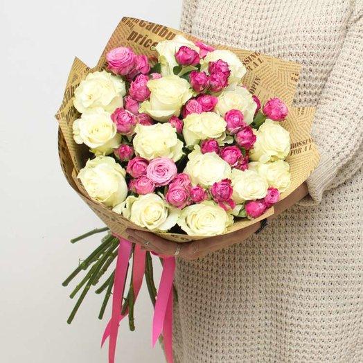 Букет Ее Величество в крафте: букеты цветов на заказ Flowwow