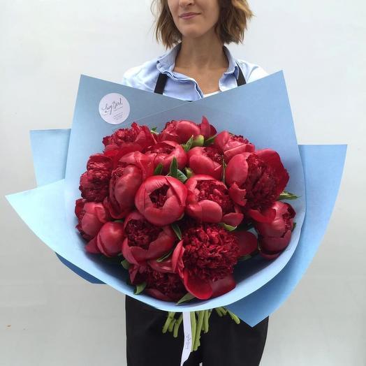 Букет из винных пионов : букеты цветов на заказ Flowwow