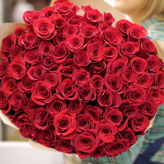 101 эквадорская красная роза Цветы столицы: букеты цветов на заказ Flowwow