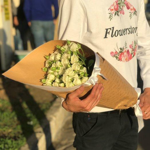 Кустовая роза 50 см. 9 шт. N193: букеты цветов на заказ Flowwow