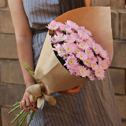 9 розовых хризантем: букеты цветов на заказ Flowwow