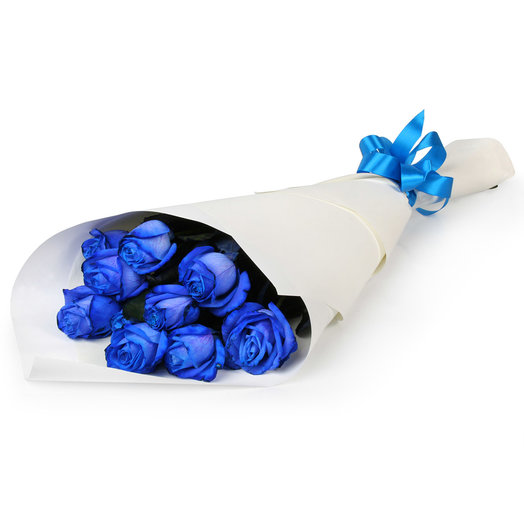 Букет из 11 синих роз: букеты цветов на заказ Flowwow