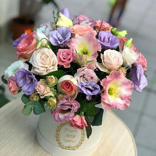 """Нежная коробка """"Цветочный рай"""": букеты цветов на заказ Flowwow"""