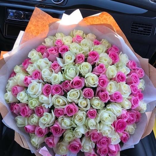Огромный букет роз: букеты цветов на заказ Flowwow