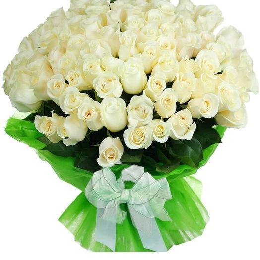 51 белых роз: букеты цветов на заказ Flowwow
