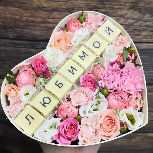 Нежность для любимой: букеты цветов на заказ Flowwow