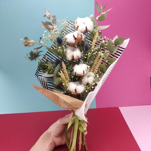Стильный с хлопком: букеты цветов на заказ Flowwow