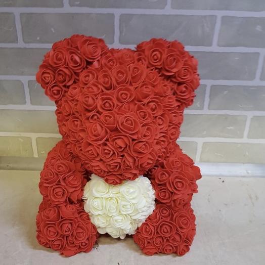 Медвежонок из 3D роз: букеты цветов на заказ Flowwow