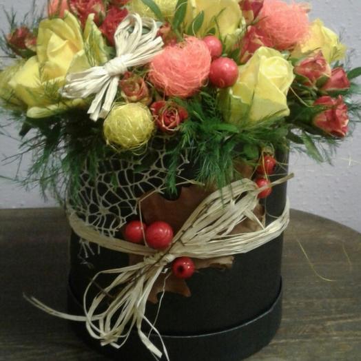 Уютная коробочка: букеты цветов на заказ Flowwow