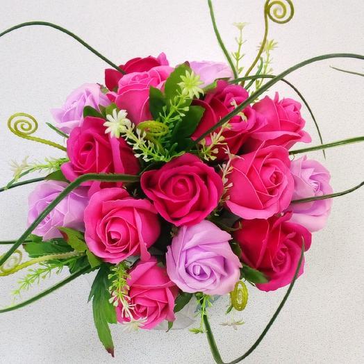 """Коробочка из мыльных розочек """"Для тебя"""": букеты цветов на заказ Flowwow"""