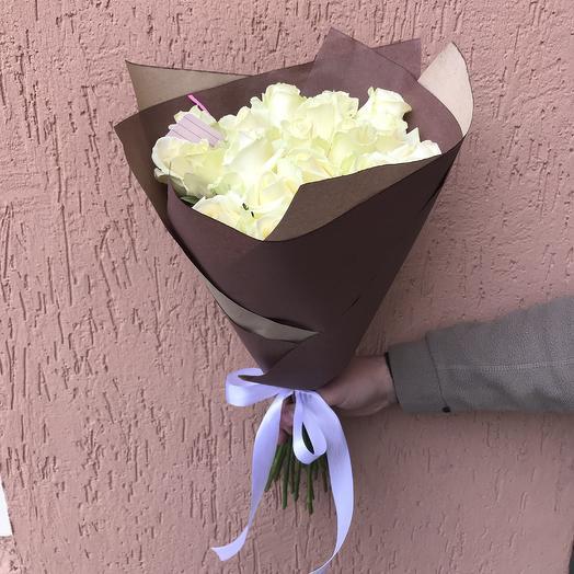 Букет белых роз (15 шт): букеты цветов на заказ Flowwow
