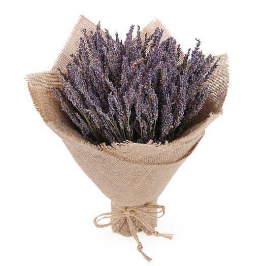 Букет из лаванды Аромат Прованса в мешковине: букеты цветов на заказ Flowwow