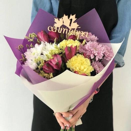 Букет 💐 на 1 сентября: букеты цветов на заказ Flowwow