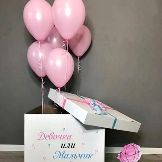 Коробка 6 с воздушными шарами