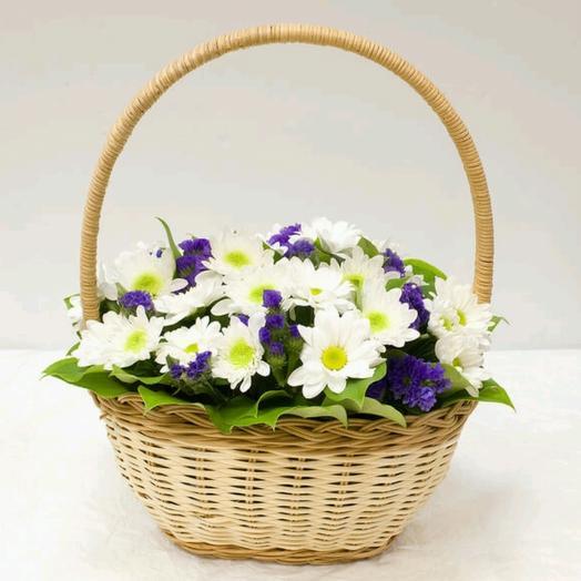 Корзинка Первому Учителю: букеты цветов на заказ Flowwow