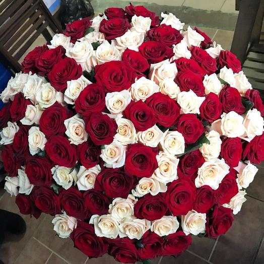 101 роза MIX: букеты цветов на заказ Flowwow