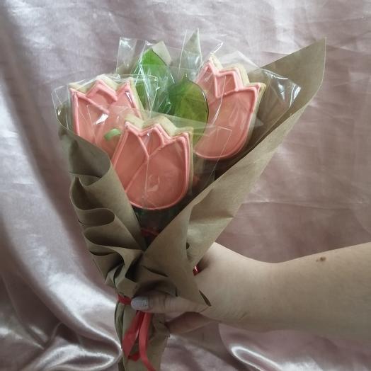 Букетик из сладких имбирных пряничков: букеты цветов на заказ Flowwow