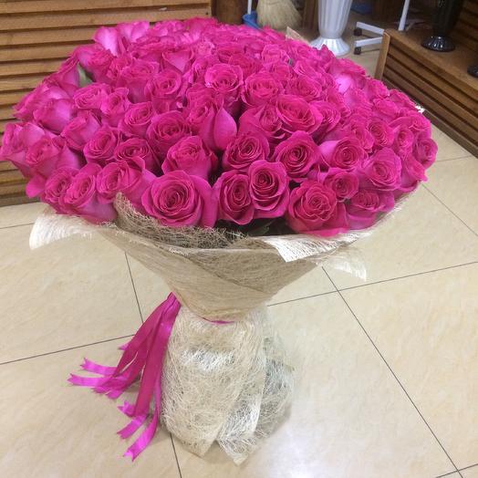 101 розовая Голландская роза