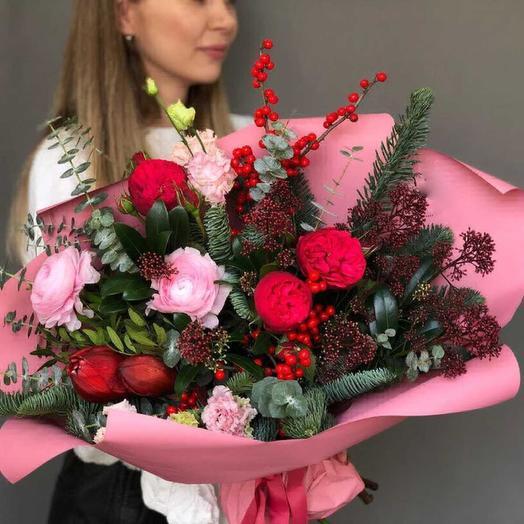 Нежная снегурочка: букеты цветов на заказ Flowwow