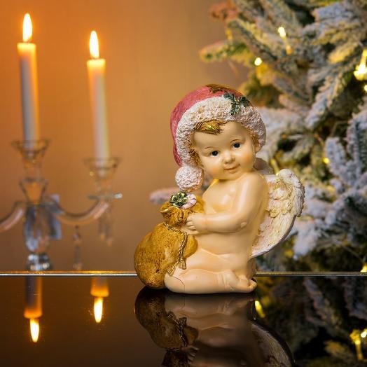 Ангел новогодний с мешочком