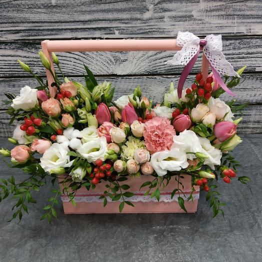 """Цветы в ящике """" шармель """": букеты цветов на заказ Flowwow"""
