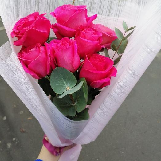 Малиновый рассвет: букеты цветов на заказ Flowwow
