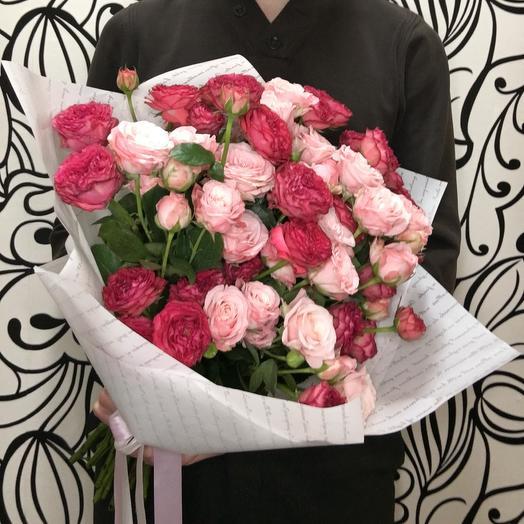 Pink roses: букеты цветов на заказ Flowwow