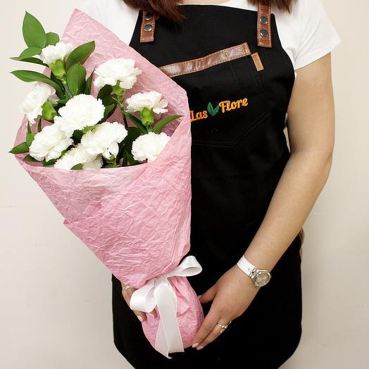 Букет Белая Гвоздика: букеты цветов на заказ Flowwow