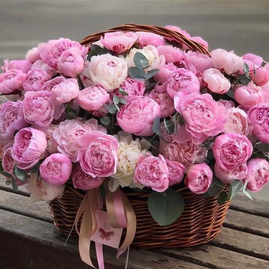 "Корзина с цветами "" розовое поле """