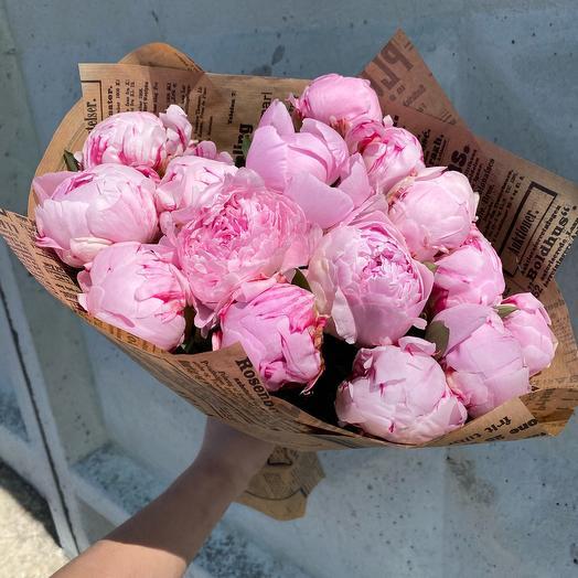 Пионы 15 шт: букеты цветов на заказ Flowwow