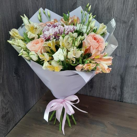 Mixed bouquet with peony rose