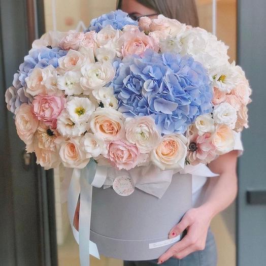Цветы в коробке Luxury Flowers Райское наслаждение