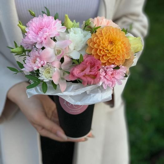 Цветочный комплимен в сумочке