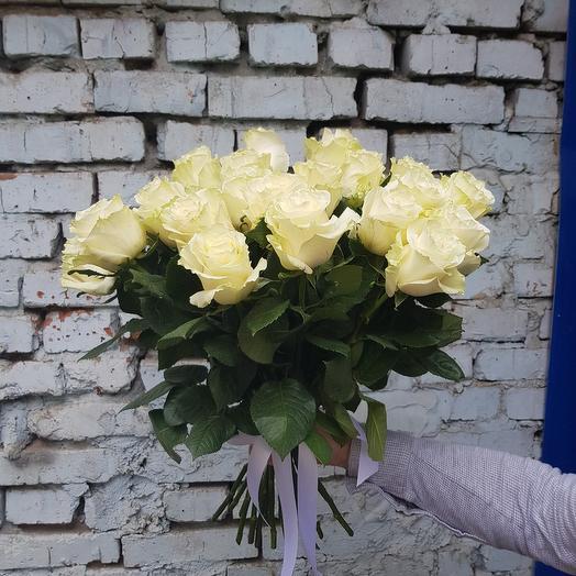 Букет из белой розы (Эквадор)