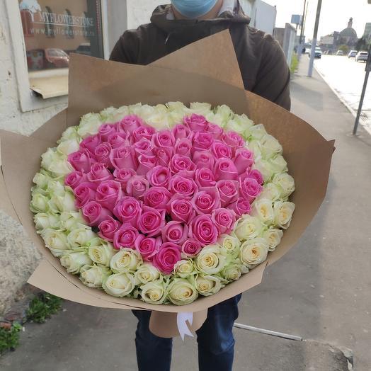 Сердца из розы
