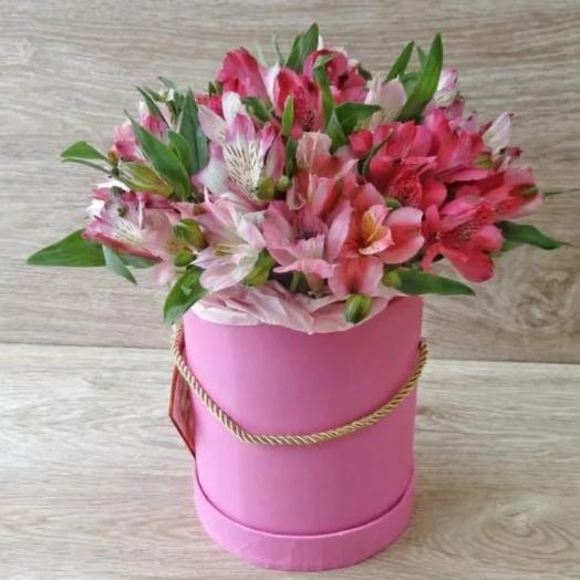 Цветы в коробке ,,Альстромерия