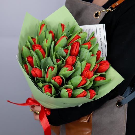 Букет из 35 тюльпанов Эскейп