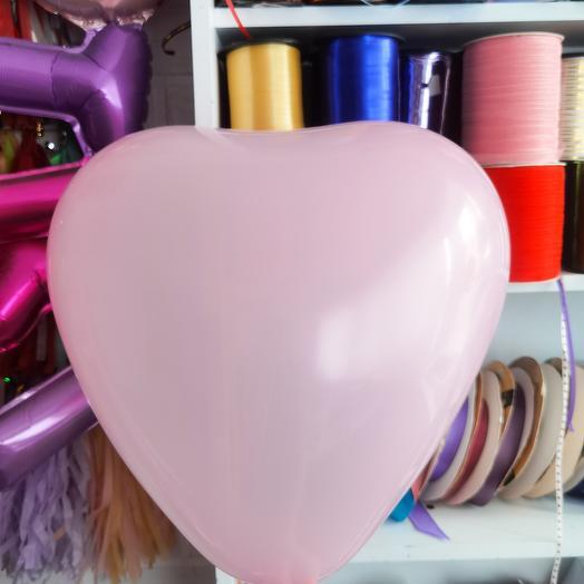 Сердце латексное розовое 41 см